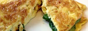 spinach and cheese omelette