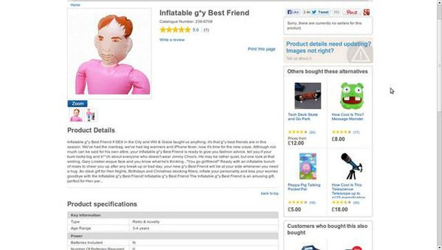 inflatable gay best friend tesco
