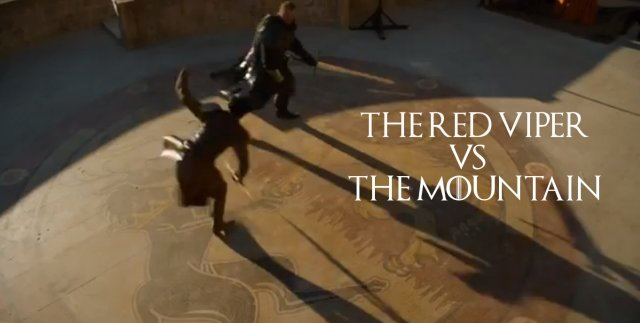 The Red Viper Vs The Mountain
