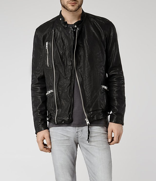 DRAYTON LEATHER BIKER