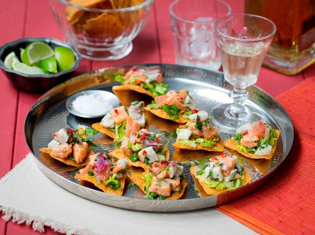 SALMON & SEA BASS CEVICHE 1