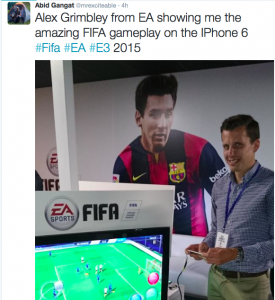 Alex Grimbley from EA introduces me to FIFA on mobile