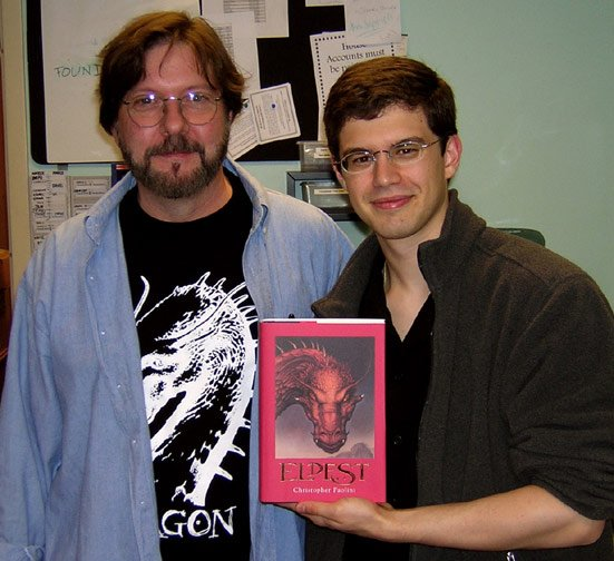 John Jude Palencar and Christopher Paolini at Joseph-Beth bookseller store, Cleveland, OH