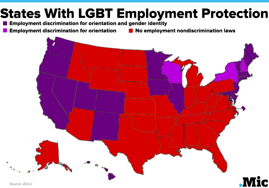 states with lgbt employment protection