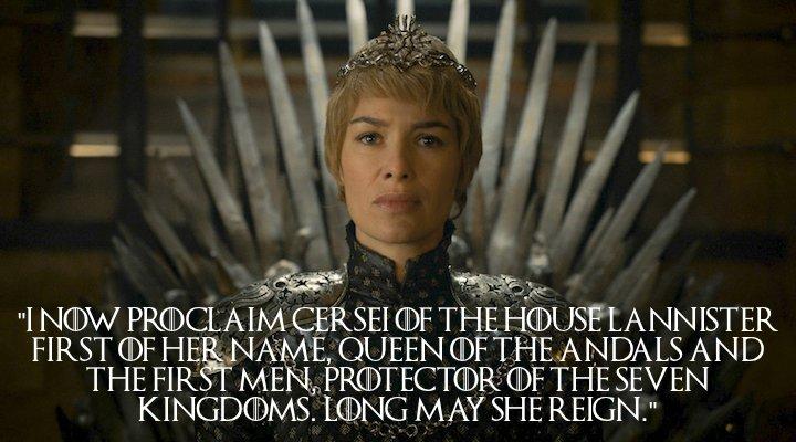 5) Queen Cersei