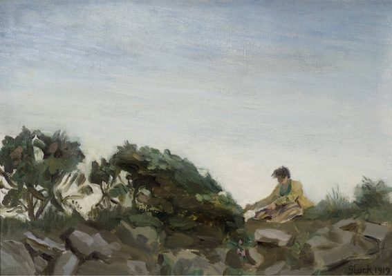 Gluck sketching on the moors