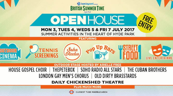 Barclaycard presentsBritish Summer Time Hyde Park OPEN HOUSE