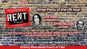 Bank Holiday weekend - Rent The Musical