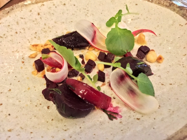 Picture Marylebone beetroot and goat curd salad