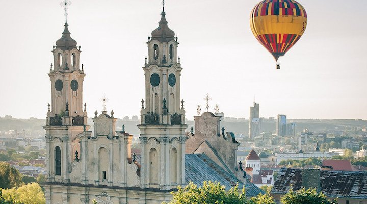 Vilnius Lithuania hot air balloon LGBTtravel
