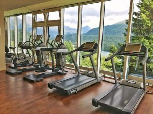 Kulm Hotel - gym with a view