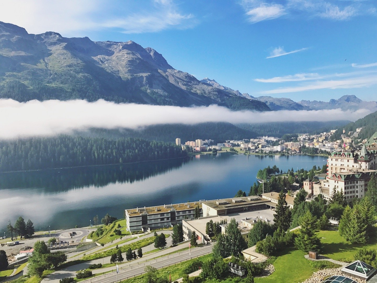 Kulm Hotel - morning view from  junior suite accommodation