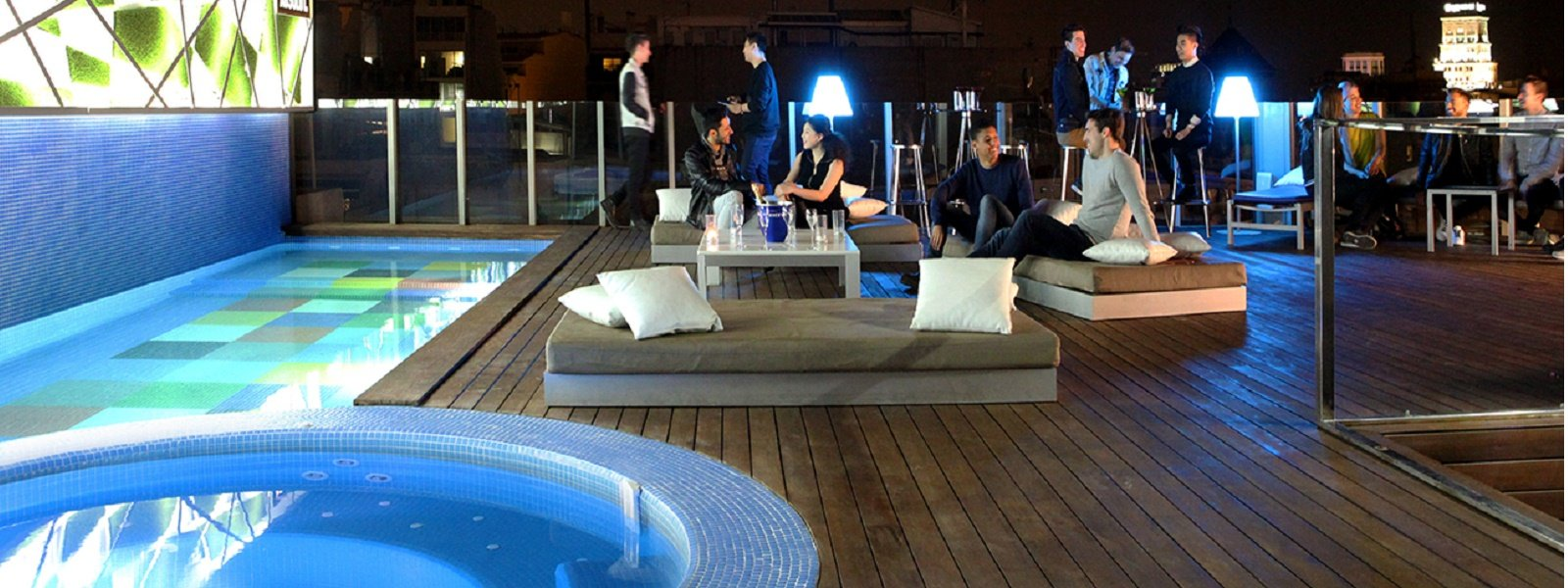 LGBT travel guide Barcelona - Sky Bar at Axel Hotel