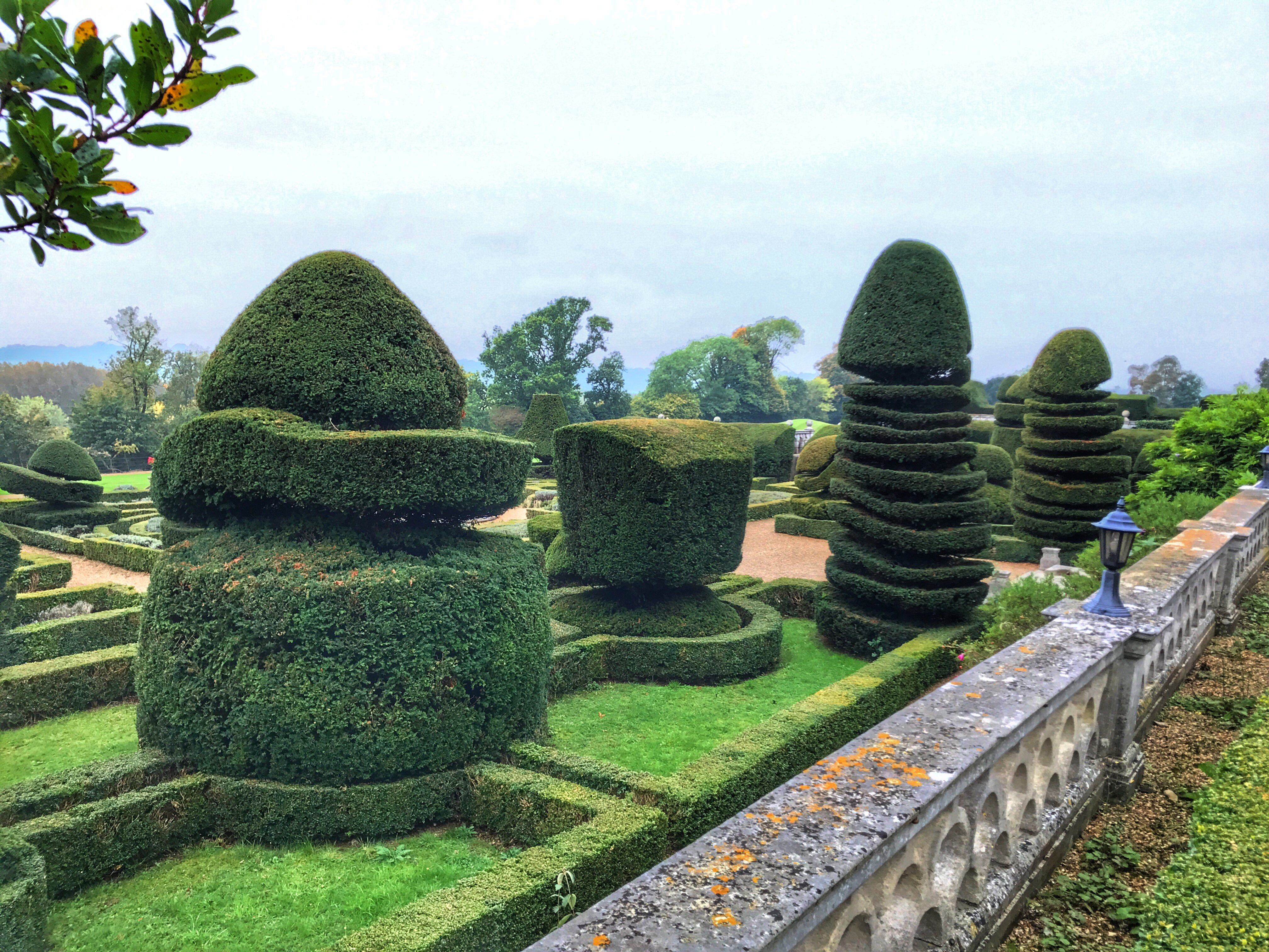 Danesfield House - topiary and gardens