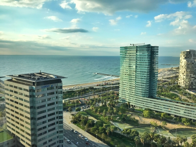 LGBT travel guide Barcelona - Hilton Diagonal - view from room