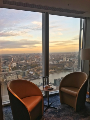 Shangri-La The Shard hotel deluxe city view room