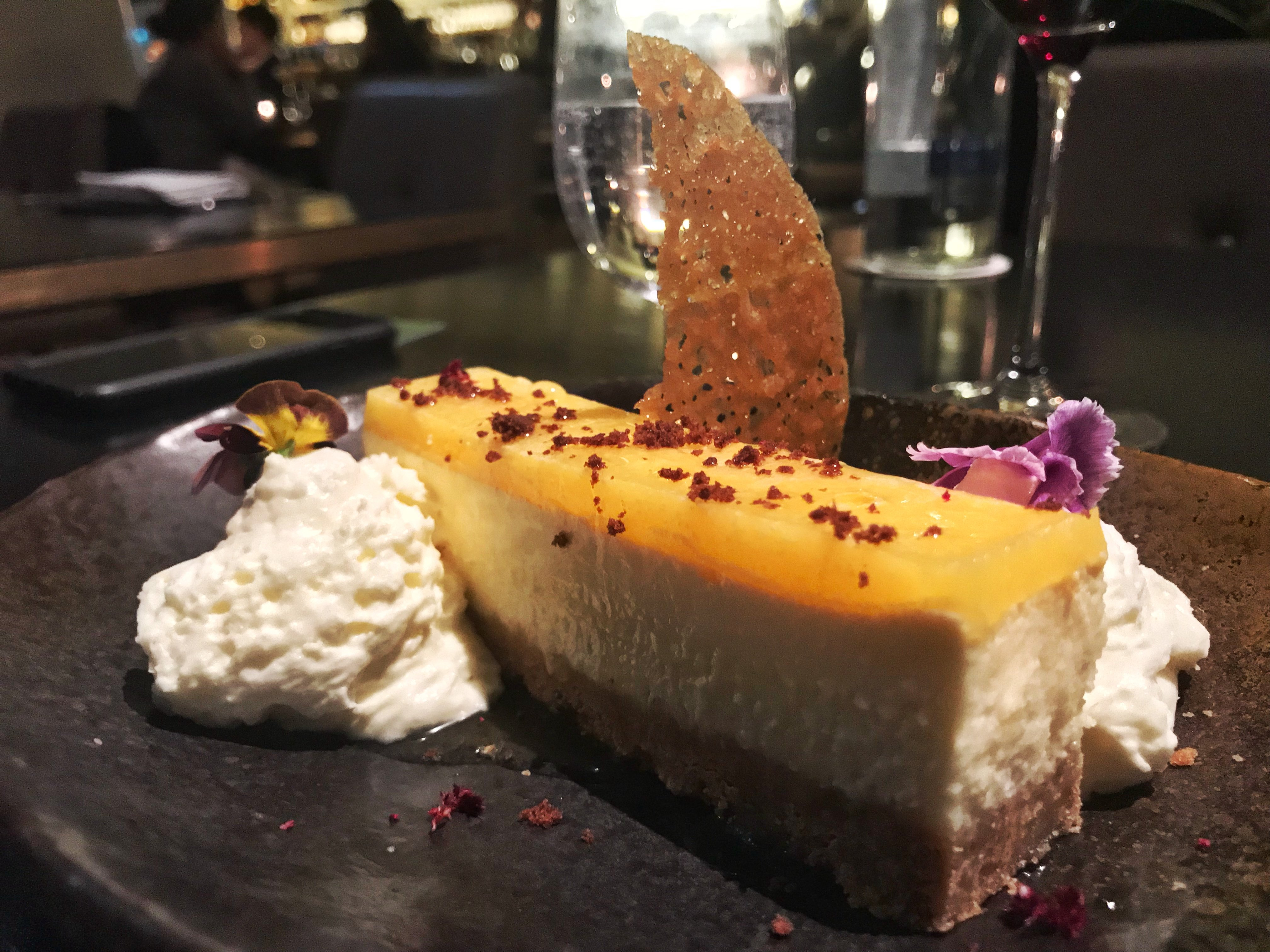 Avenue Restaurant - dessert - Lime and ginger cheesecake with white chocolate and yuzu cream