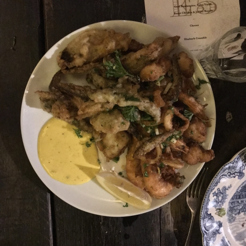 Foodchain Elephants Head pub Hackney tempura seafood