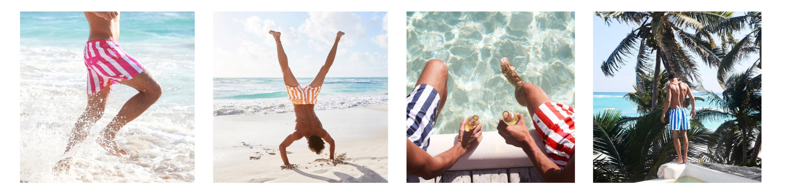 Ethical swim shorts for summer dock and bay
