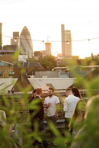 Skylight rooftop London summer