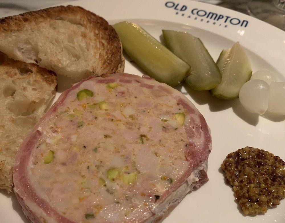 Old Compton Brasserie Pork and Pistachio Terrine