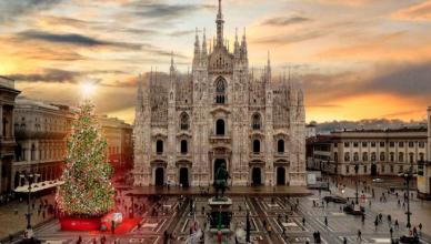 Italy Milan Christmas Tree 2018