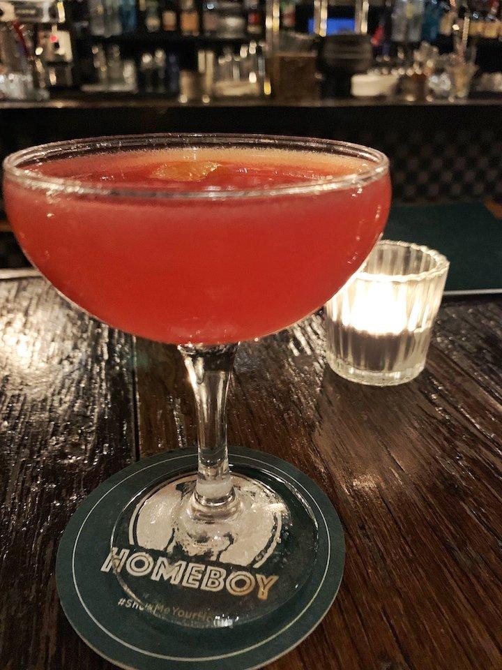 Homeboy classic cocktail menu