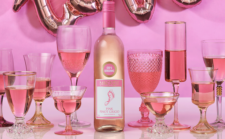 Valentine's Day 2019 roundup Barefoot Wines Rosé Romance Pink Pinot Grigio