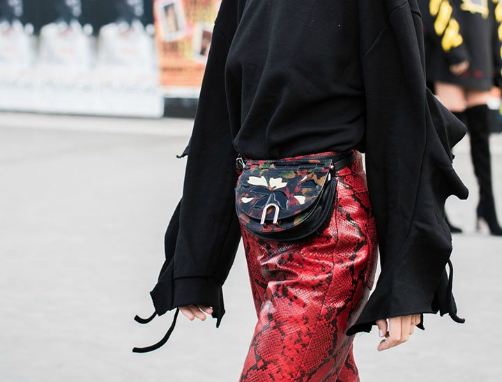 red skirt snake skin