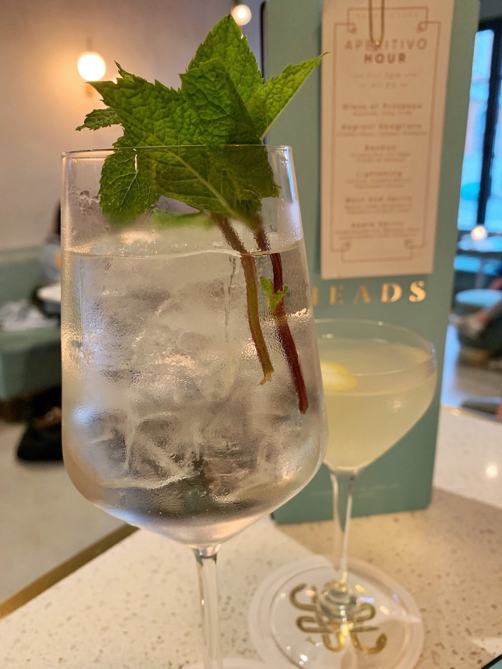 Heads + Tails cocktail Dill of Century and Corspe Reviver