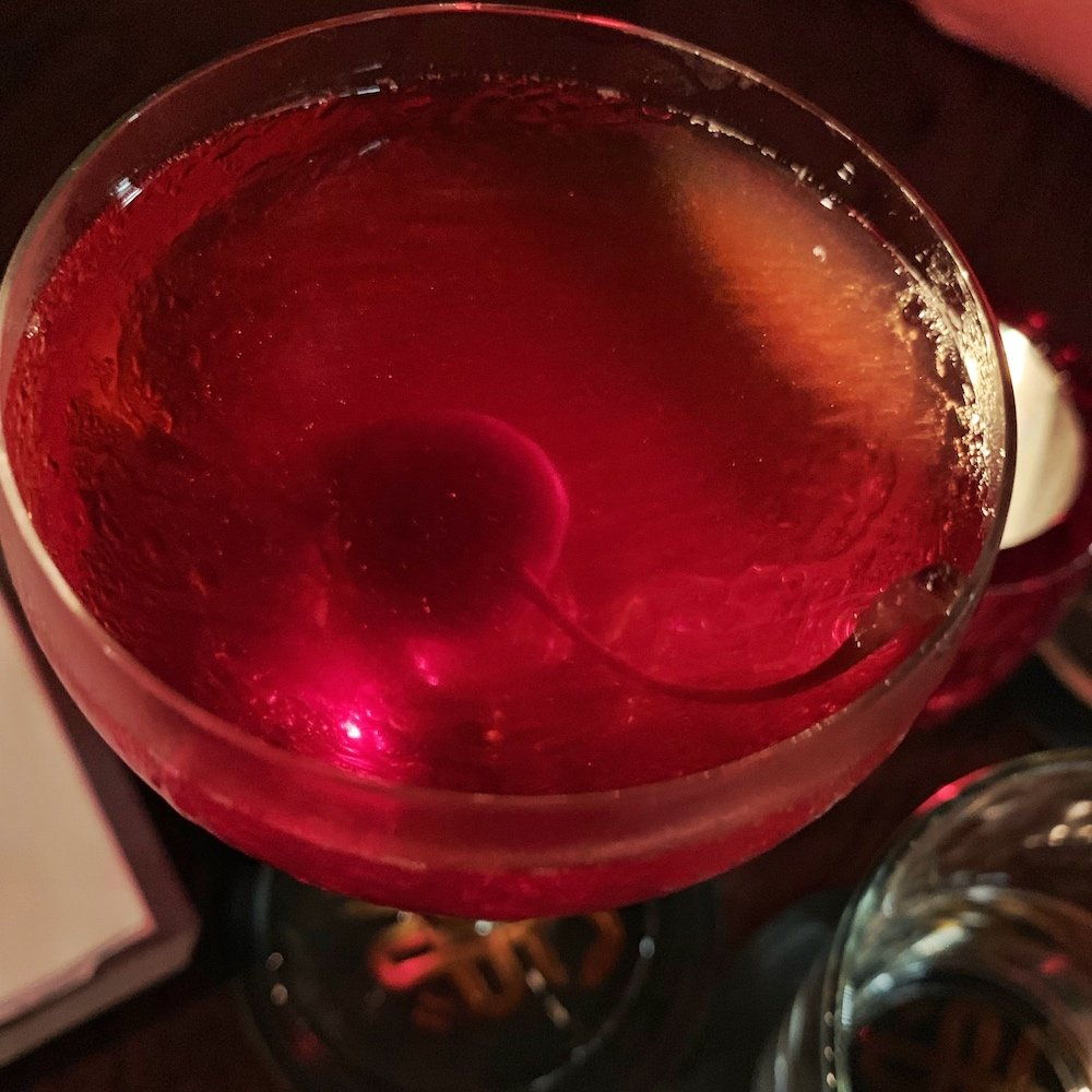Heads + Tails cocktail Sunset Boulevardier