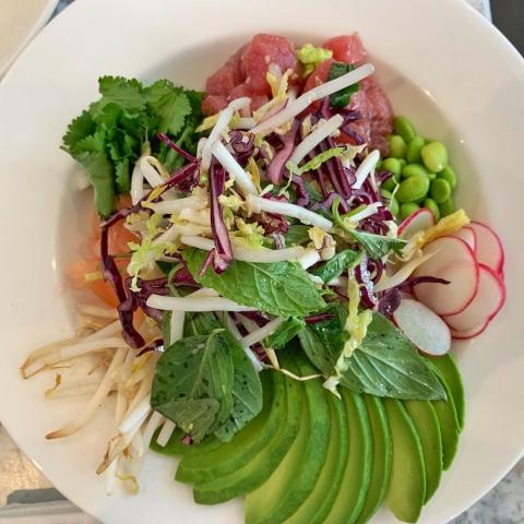 LIV restaurant poke bowl