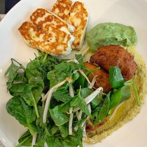LIV restaurant Red lentil fritters