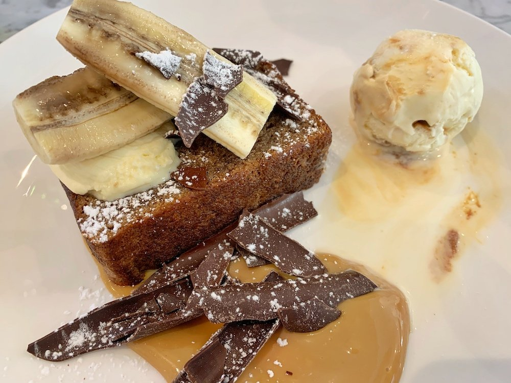 LIV restaurant banoffee banana bread