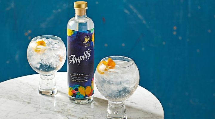 dry January no alcohol cocktail Amplify