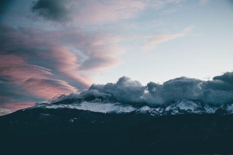 Icy Colorado mountains
