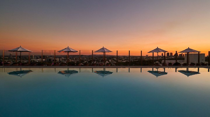 West Hollywood hotels rooftop pool