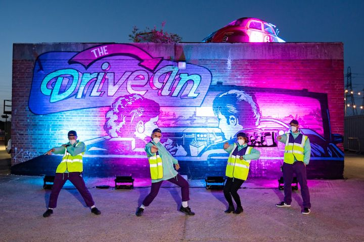 the drive in Christmas 2020 London
